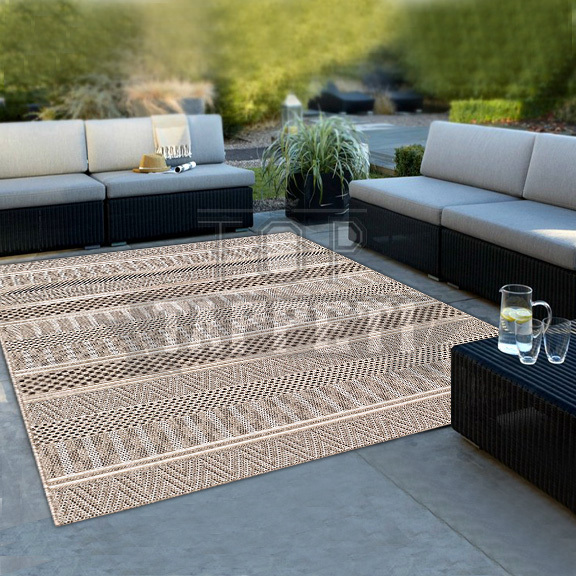 GRACE OUTSTYLE - Tappeto Stuoia Indoor/Outdoor in Juta - Resistente ideale per esterno - 39188-763