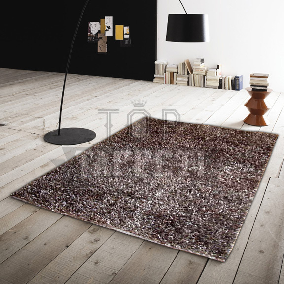 Tappeto shaggy grigio idee per il design della casa - Tappeto moderno grigio ...