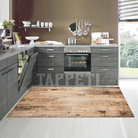 KITCHEN - Tappeto Passatoia Cucina Stampa Digitale - PARQUET - Top ...