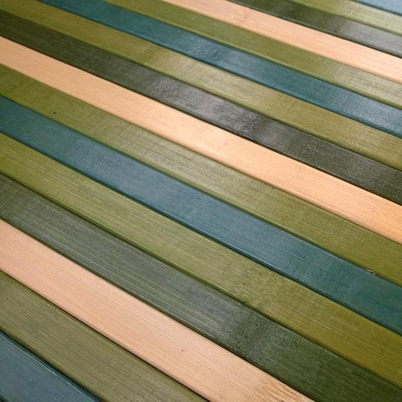 Bamboo cucina tappeto passatoia deluxe degrade verde for Top tappeti