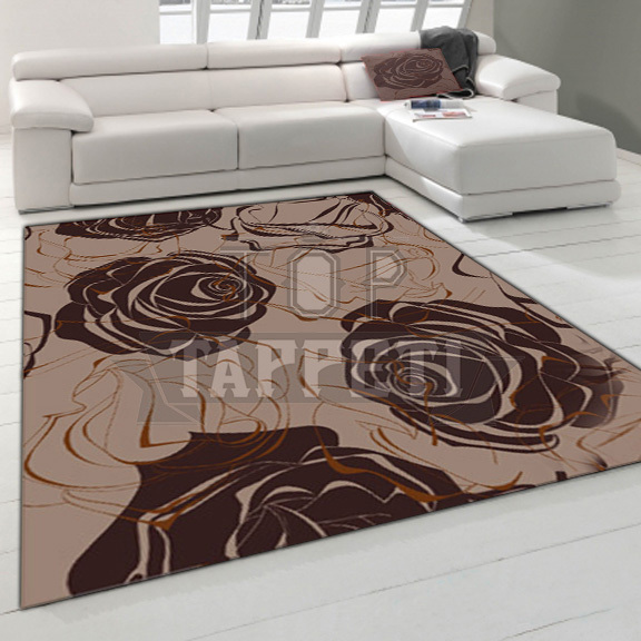 MODERN STYLE - Tappeto Moderno Stampa Digitale - Brown Roses