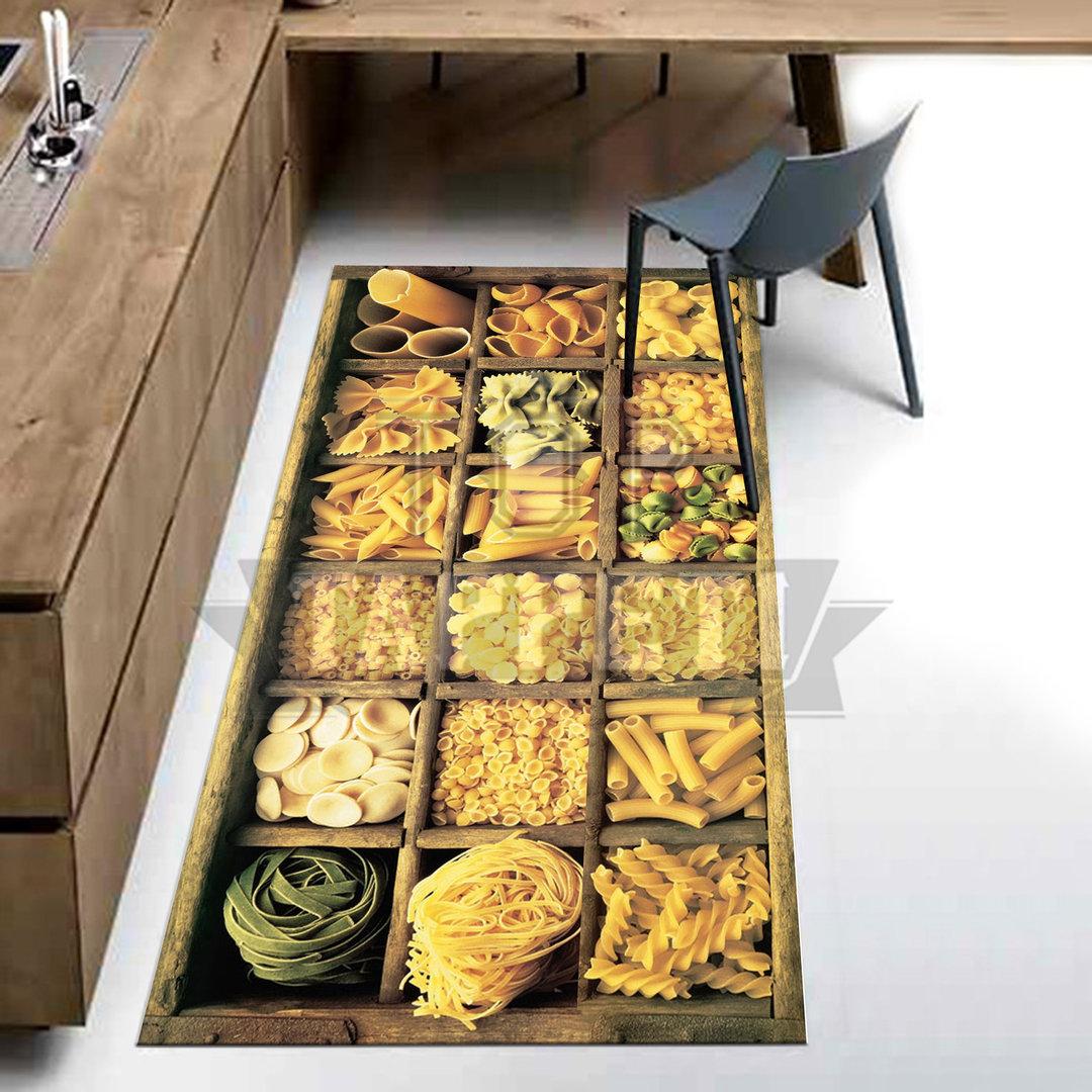 Kitchen tappeto passatoia cucina stampa digitale pasta top tappeti official website - La stampa cucina ...