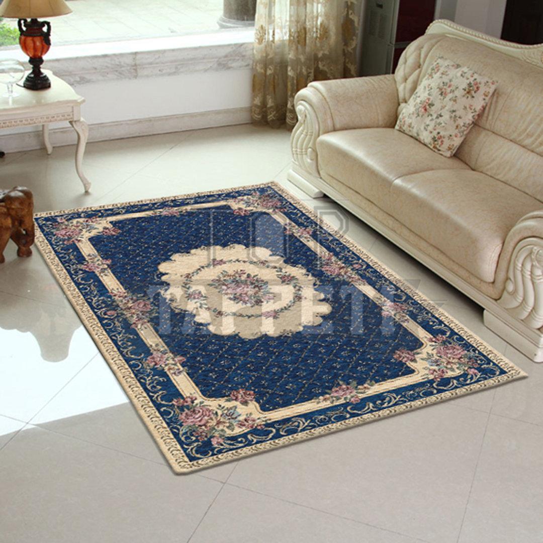 Volant tappeto classico stile francese ciniglia jacquard for Top tappeti
