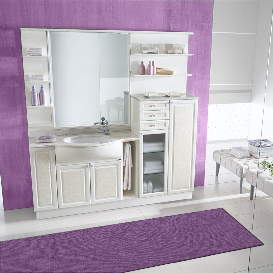 Tappeto passatoia salotto cucina bagno lavabile antiscivolo moderno disegni viola mod5121 - Passatoia cucina antiscivolo ...