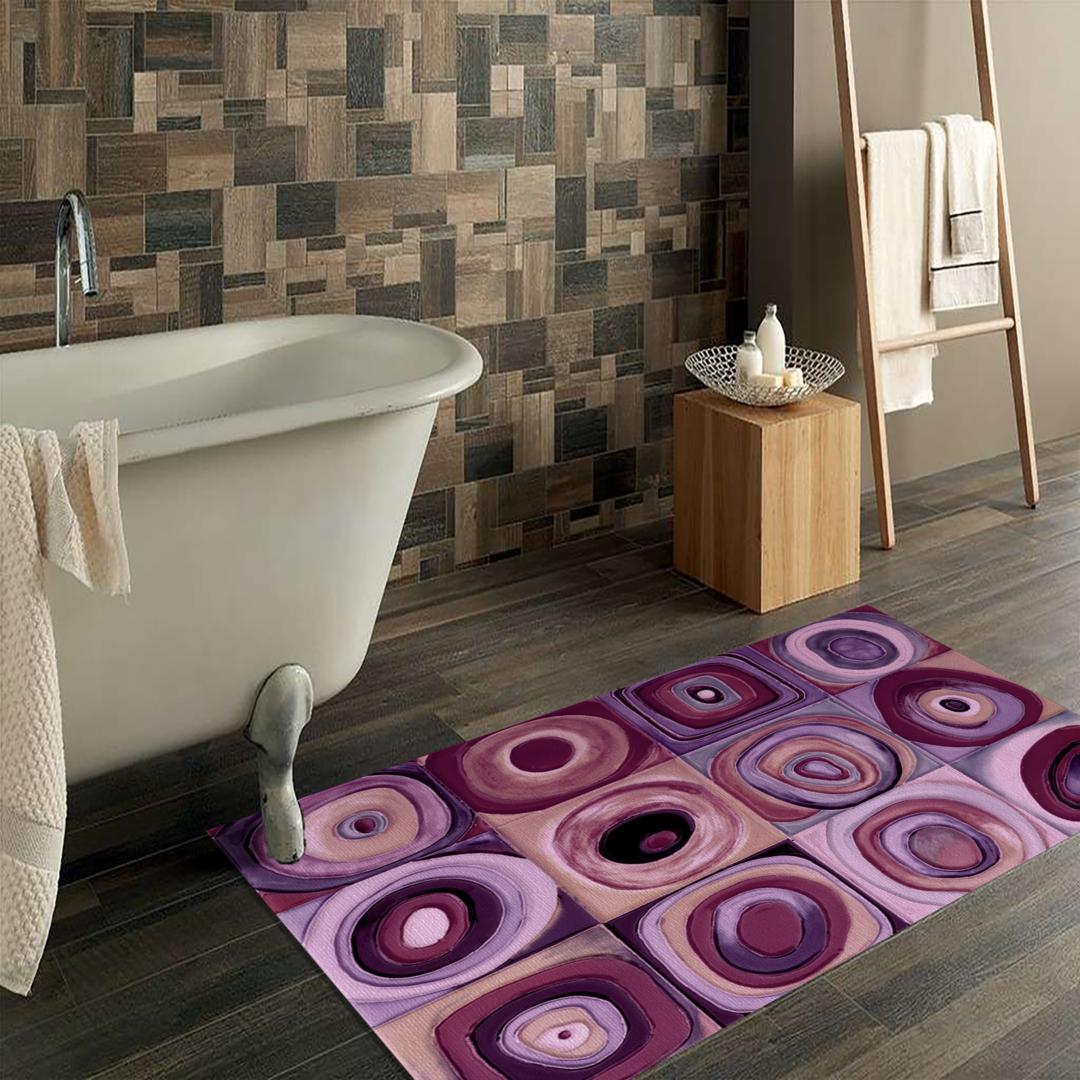 Tappeto Passatoia Salotto Cucina Bagno Lavabile Antiscivolo Moderno Geometrico Rosa Antico Mod5210 Top Tappeti Official Website