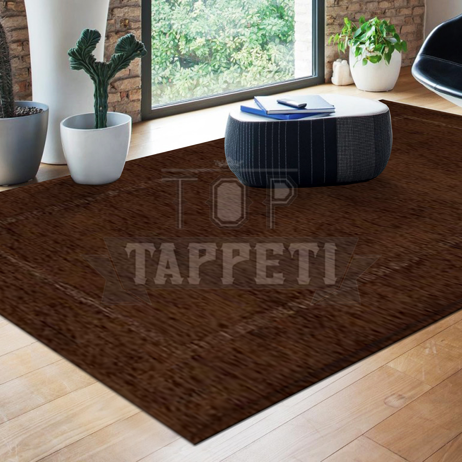 Volant tappeto moderno ciniglia jacquard bordato tinta for Tappeto moderno