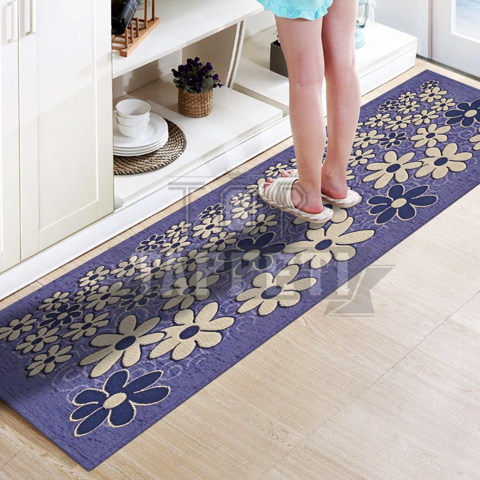 Margherita grigio tappeto passatoia cucina bagno - Tappetino cucina ...